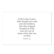 GENESIS  37:23 Postcards (Package of 8)