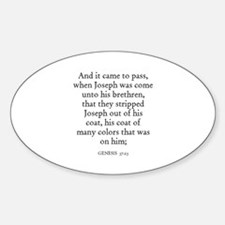 GENESIS 37:23 Oval Decal