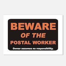 Beware / Postal Worker Postcards (Package of 8)
