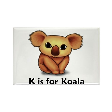 K is for Koala Rectangle Magnet