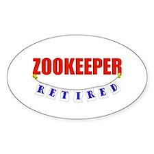 Retired Zookeeper Oval Sticker (10 pk)