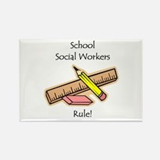 Social Workers Rule Rectangle Magnet