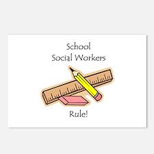 Social Workers Rule Postcards (Package of 8)