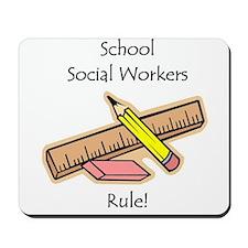 Social Workers Rule Mousepad