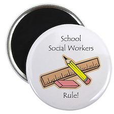 """Social Workers Rule 2.25"""" Magnet (10 pack)"""