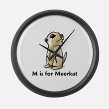 M is for Meerkat Large Wall Clock