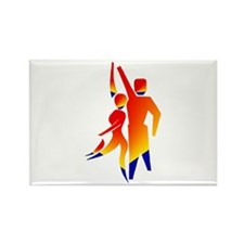 Latin Dancers #1 Rectangle Magnet