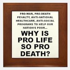 Why so pro death? Framed Tile