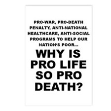Why so pro death? Postcards (Package of 8)