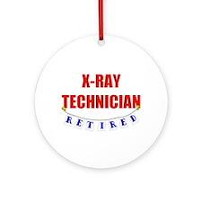 Retired X-Ray Technician Ornament (Round)