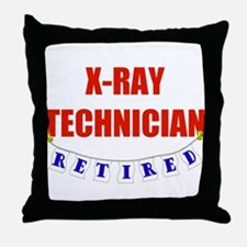 Retired X-Ray Technician Throw Pillow