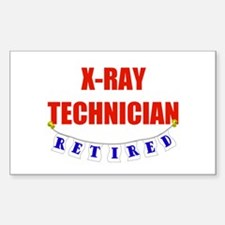 Retired X-Ray Technician Rectangle Decal