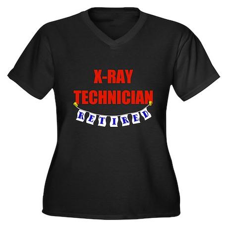 Retired X-Ray Technician Women's Plus Size V-Neck