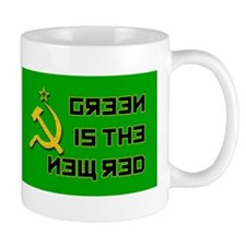 """""""Green Is The New Red"""" Mug"""