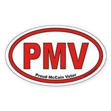 Proud McCain Voter PMV Euro Oval Decal