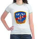 USS GUARDFISH Jr. Ringer T-Shirt