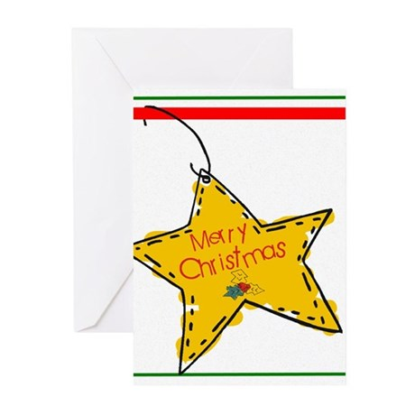 Merry Christmas Star Greeting Cards (Pk of 10)
