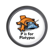 P is for Platypus Wall Clock