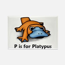P is for Platypus Rectangle Magnet