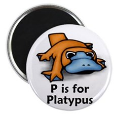 """P is for Platypus 2.25"""" Magnet (100 pack)"""