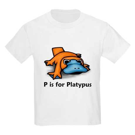 P is for Platypus Kids Light T-Shirt