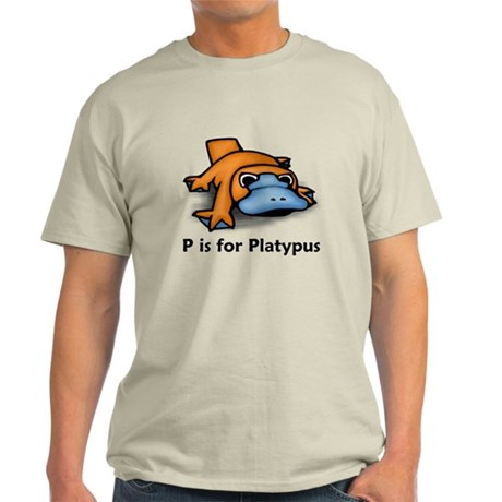 P is for Platypus Light T-Shirt