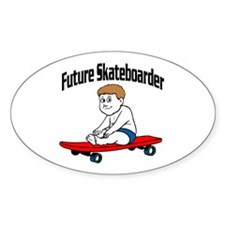 Future Skateboarder Oval Decal