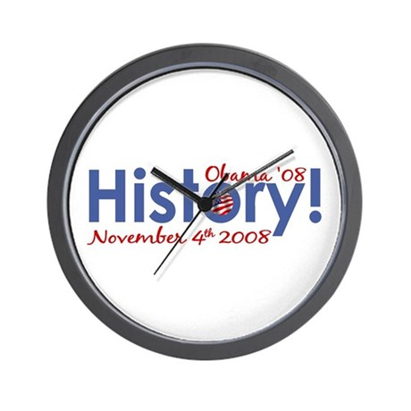 History Obama Wins '08 Wall Clock