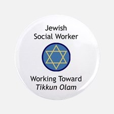 """Jewish Social Worker 3.5"""" Button (100 pack)"""