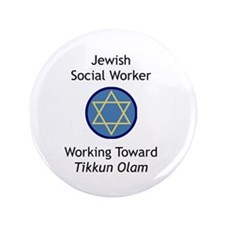 "Jewish Social Worker 3.5"" Button"