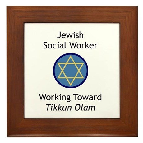 Jewish Social Worker Framed Tile