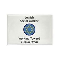 Jewish Social Worker Rectangle Magnet (100 pack)