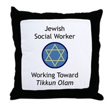 Jewish Social Worker Throw Pillow