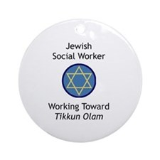 Jewish Social Worker Ornament (Round)