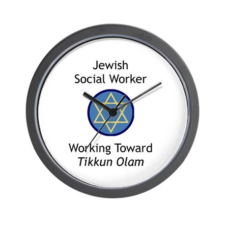 Jewish Social Worker Wall Clock