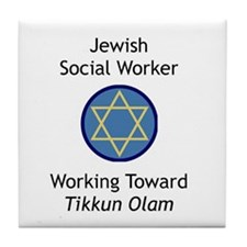 Jewish Social Worker Tile Coaster