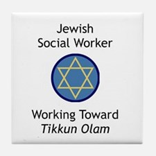 Jewish Social Worker Tile Coaster