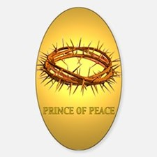 Prince of Peace Crown Oval Decal