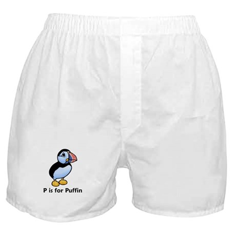 P is for Puffin Boxer Shorts