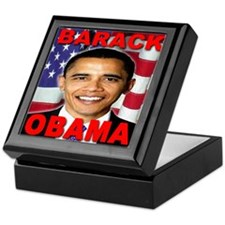 Barack Obama USA Flag Keepsake Box