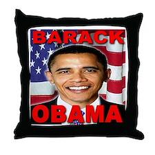 Barack Obama USA Flag Throw Pillow