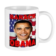 Barack Obama USA Flag Mug