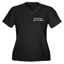 Sod This Women's Plus Size V-Neck Dark T-Shirt