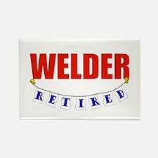 Retired Welder Rectangle Magnet