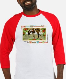 Christmas Ice Skating Scene Baseball Jersey