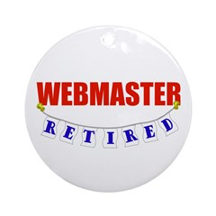 Retired Webmaster Ornament (Round)