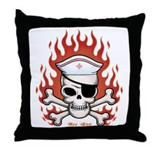 Flaming Arr Enn Throw Pillow