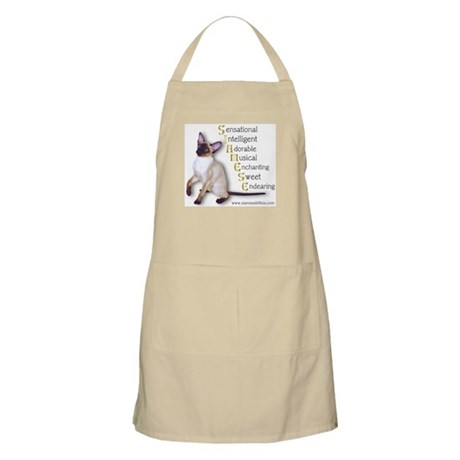 Siamese spelled out BBQ Apron