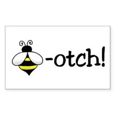 Bee-otch Rectangle Decal