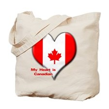 My Heart is Canadian Tote Bag